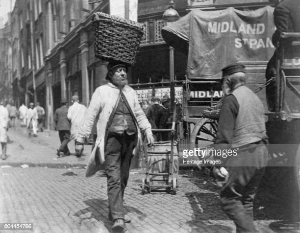 Fish porters at Billingsgate Market London 1893 London's main fish market Billingsgate Market became established on Billingsgate Wharf during the...