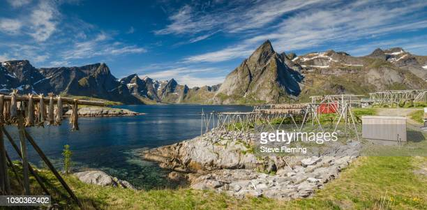 Fish racks at Hamnoy, Lofoten Islands, Norway.