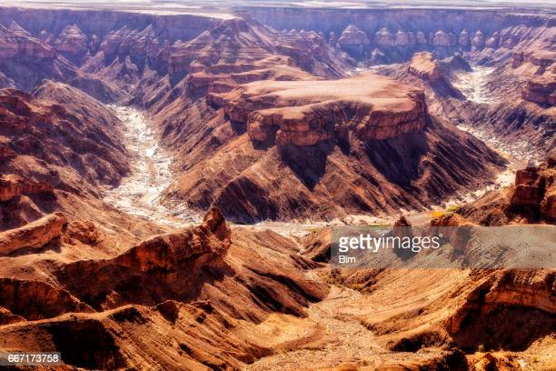 fish river cynyon in namibia - namibia stock pictures, royalty-free photos & images