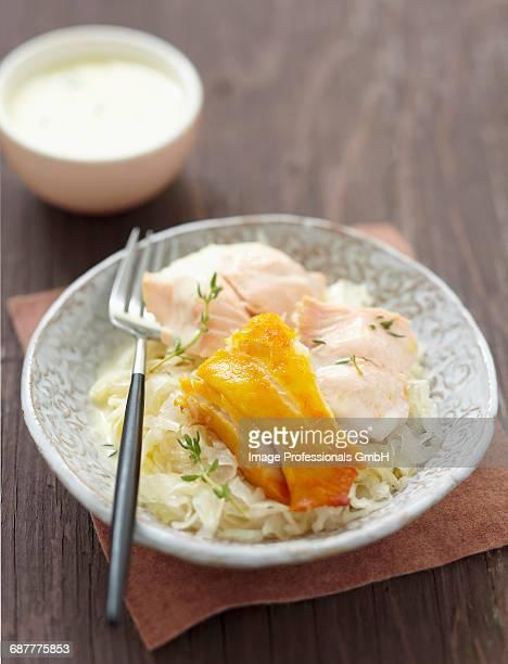 Fish Sauerkraut with thyme