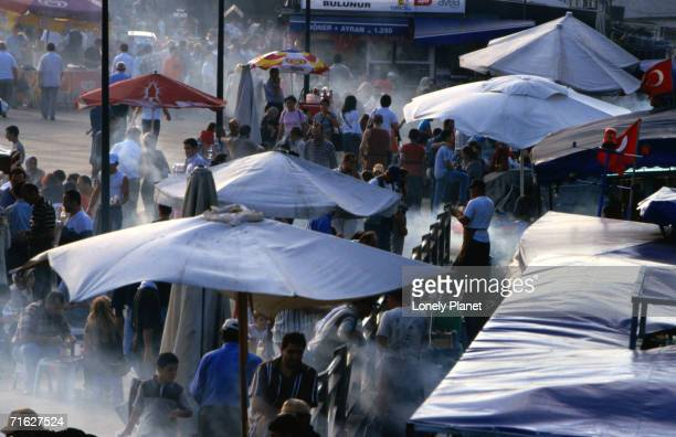 Fish sellers near Eminonu, Istanbul, Turkey