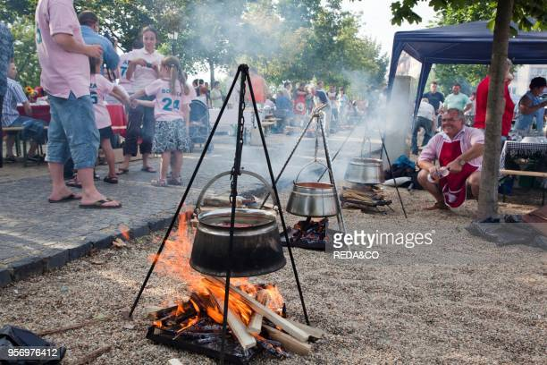 Fish soup Chowder Festival in Baja Hungary Every year on the second Saturday in July the town center of Baja is one big open air soup kitchenEurope...