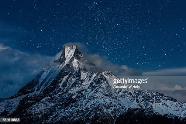 fish tail peak - machapuchare stock photos and pictures