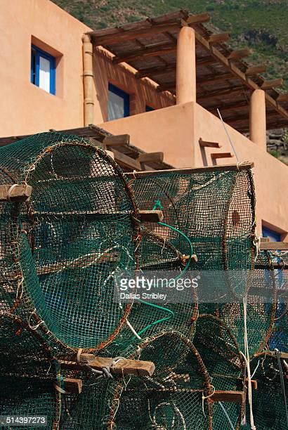 Fish traps and house at Rinella, Salina, Italy