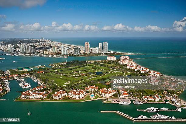 fisher island, miami - fisher island stock pictures, royalty-free photos & images