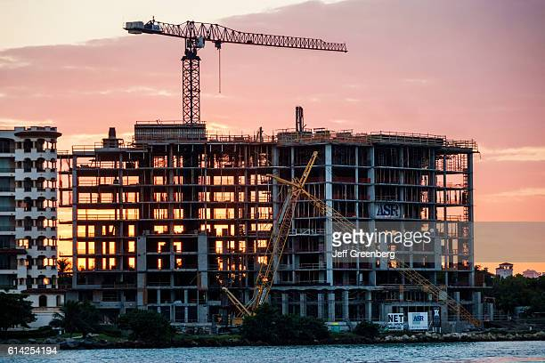 Fisher Island new building under construction site