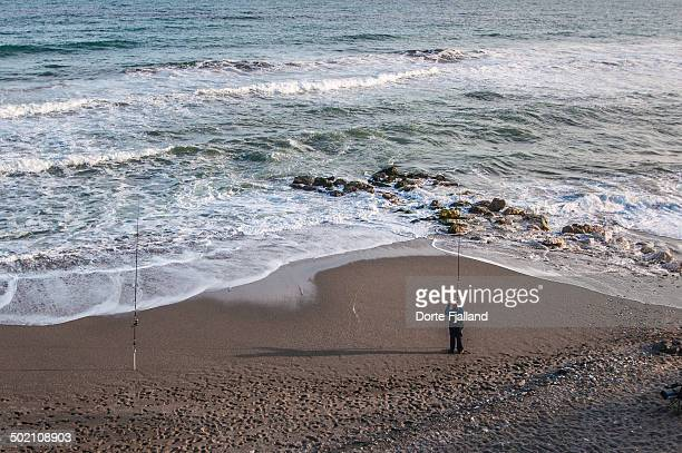 Fisher man on the beach