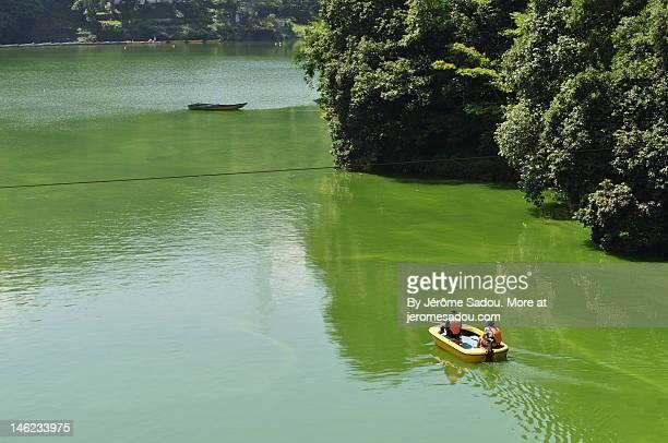 Fisher men on Sagamiko lake