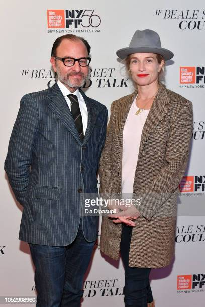 Fisher Stevens and Alexis Bloom attend the 'If Beale Street Could Talk' US premiere during the 56th New York Film Festival at The Apollo Theater on...