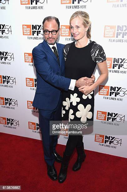 Fisher Stevens and director Alexis Bloom attend the 54th New York Film Festival 'Bright Lights' Photo Cal on October 10 2016 in New York City