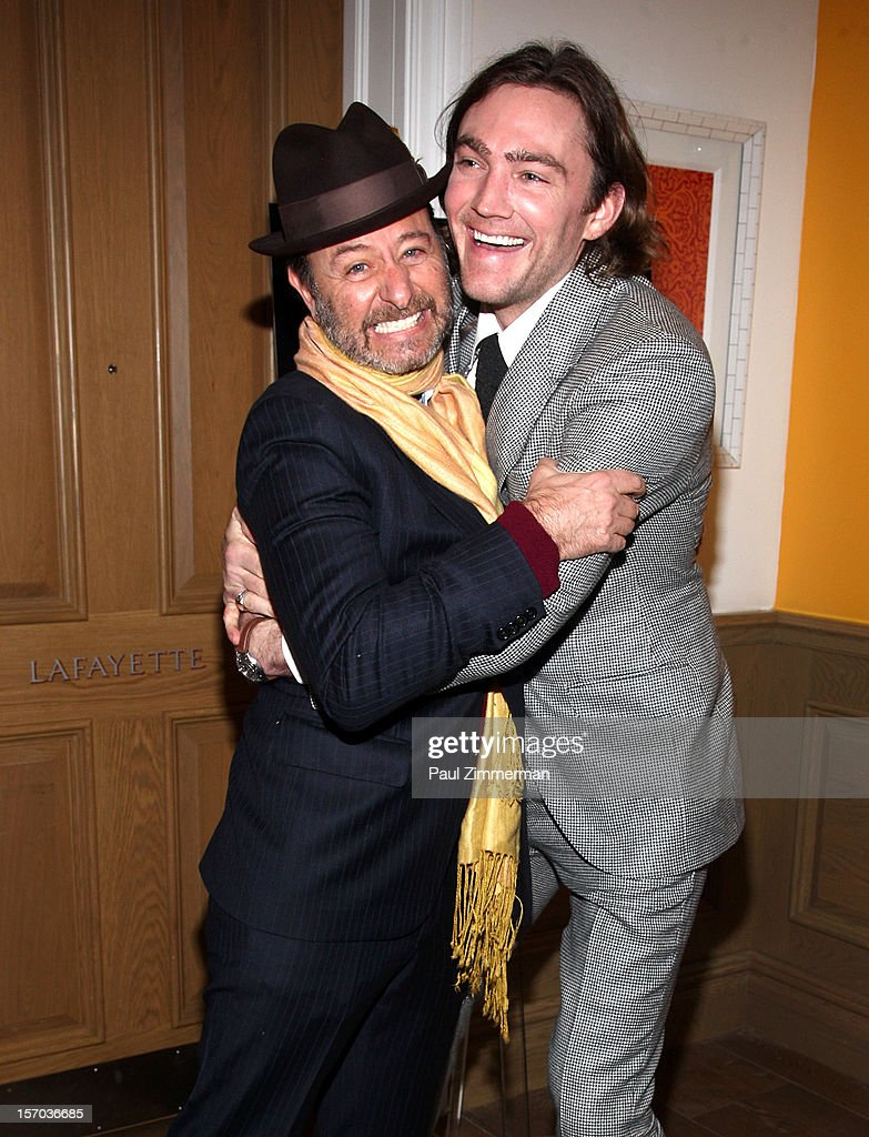 Fisher Stevens and director/producer Jay Bulger attend 'Beware Of Mr. Baker' New York Screeningat Crosby Street Hotel on November 27, 2012 in New York City.