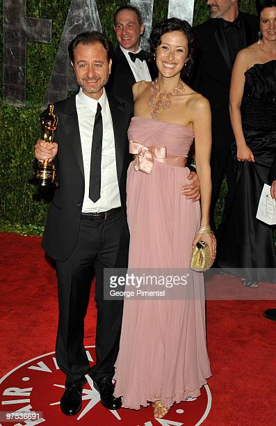 Fisher Stevens and guest arrive at the 2010 Vanity Fair Oscar Party hosted by Graydon Carter held at Sunset Tower on March 7 2010 in West Hollywood...
