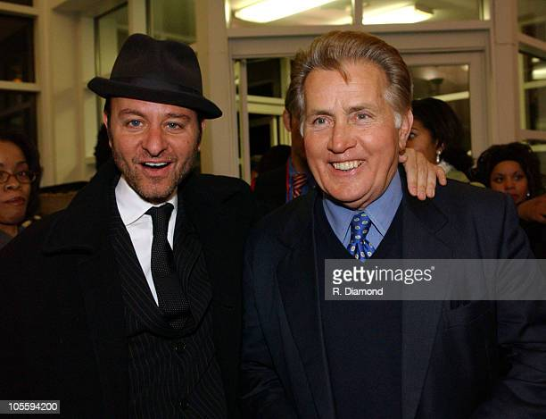 Fisher Stevens and Martin Sheen during Speak Truth To Power The Play at Ebenezer Baptist Church in Atlanta Georgia United States