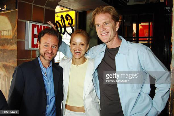 Fisher Stevens Cari Modine and Matthew Modine attend Luncheon to Launch ADAM DAVIES book GOODBYE LEMON at Elaines on July 25 2006 in New York City