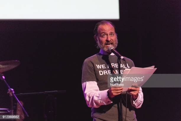 Fisher Stevens speaks at quotThe People's State Of The Unionquot at The Town Hall theater in New York City NY on Monday January 29 2018