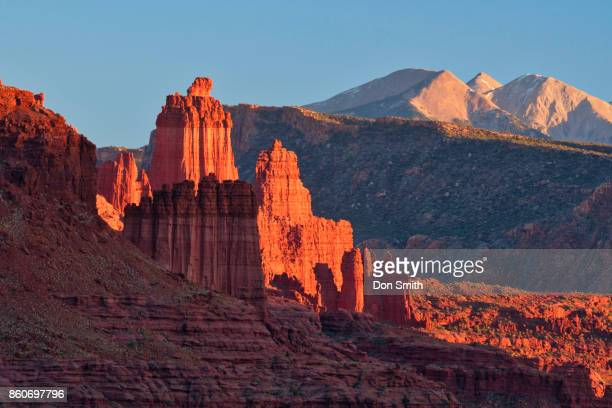 Fisher Tower and La Sal Mountains