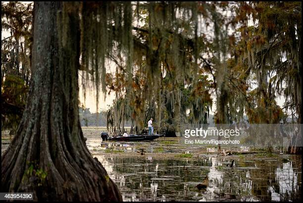 Fisherman are photographed for Le Figaro Magazine on October 31 2013 on Lake Martin in Breaux Bridge Louisiana CREDIT MUST READ Eric...