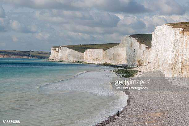 A fisherman at the Seven Sisters