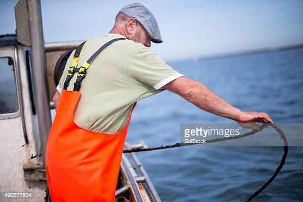 Pescatore sul lavoro