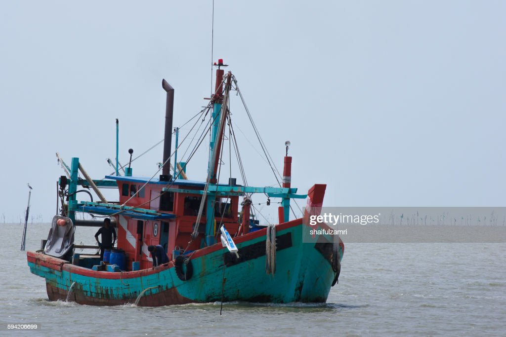 Fisherman boat : Stock Photo