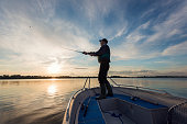 Fisherman Casting Out His Line