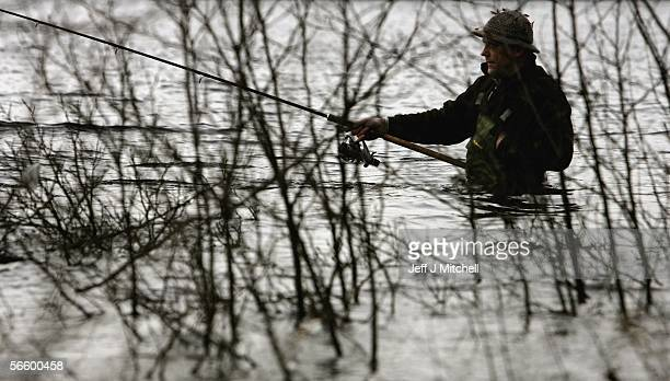 Fisherman casts his rod across the River Tay on the opening day of the salmon season on January 16, 2006 in Kenmore, Scotland. The season is started...