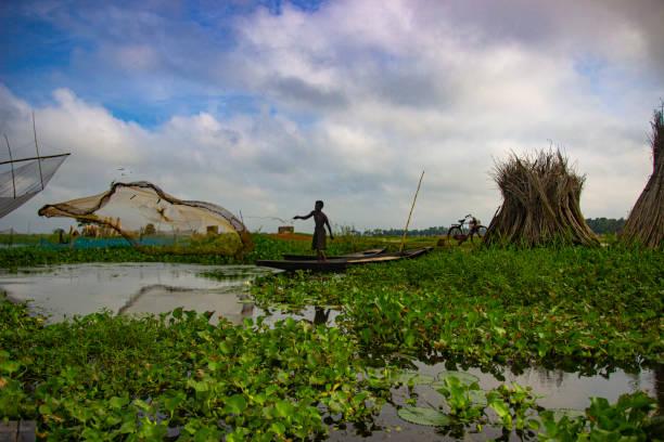 Fisherman catching fish