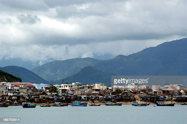 Fisherman communities along the sea in Nha Trang Central Vietnam
