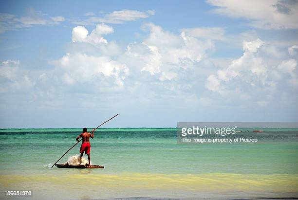 fisherman fishing in brazil - natal brazil stock pictures, royalty-free photos & images