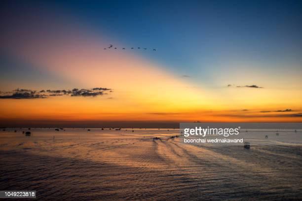 Fisherman house with sunrise