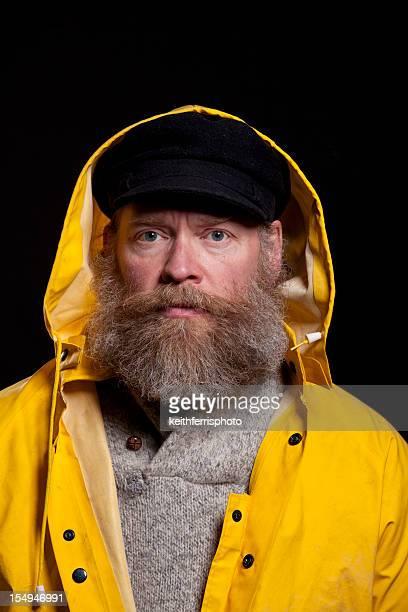 fisherman in a hood