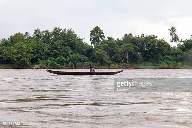 Fisherman in Mekong River
