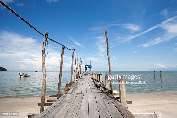 Fisherman jetty at Teluk Bahang Beach, Penang