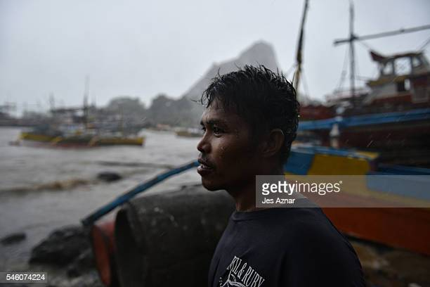 A fisherman looking out at sea as they prepare and resupply for another fishing trip to the Spratlys on July 9 2016 in Mariveles Bataan Philippines...