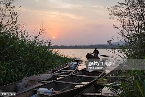 Fisherman on Jabi Lake Abuja FCT Nigeria