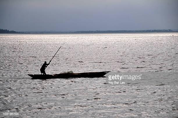 Fisherman on Lake Vogan