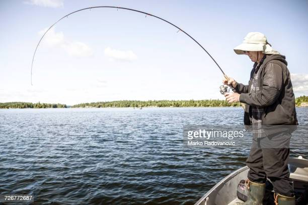 Fisherman On The Lake Nipissing During The Catch