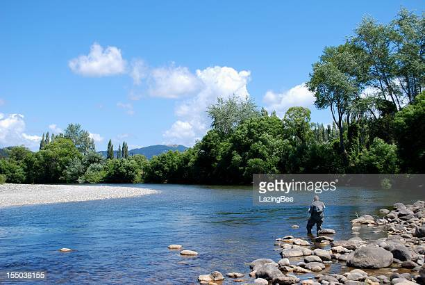 Fisherman on the Motueka River, Tasman, NZ