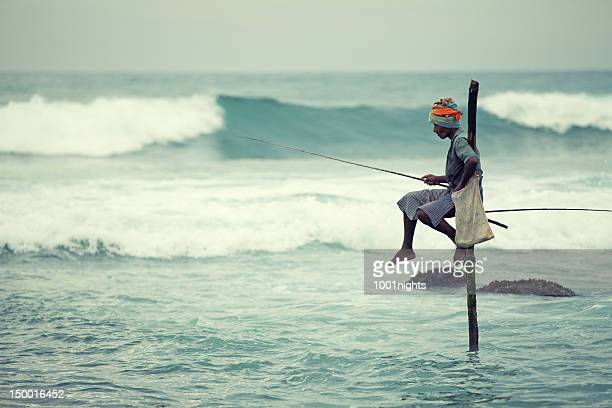 fisherman - sri lanka stock pictures, royalty-free photos & images
