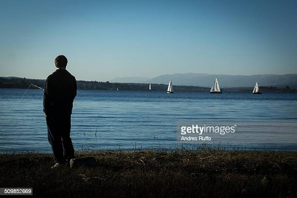 fisherman - cordoba argentina stock photos and pictures