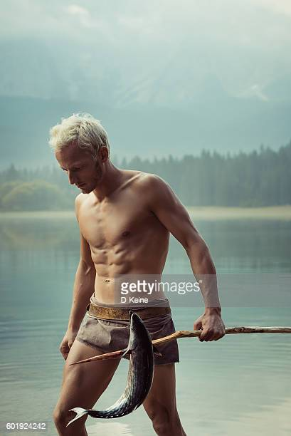 fisherman - spear stock photos and pictures