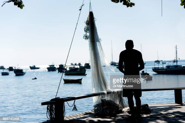 fisherman - brazilian men stock photos and pictures