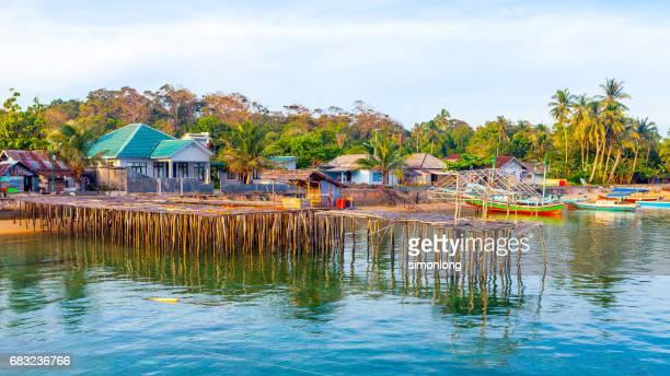 Fisherman village in Belitung Island