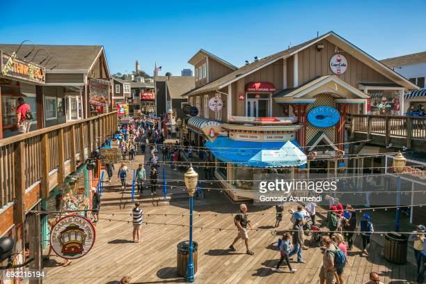 Fisherman Wharf neighborhood at San Francisco.