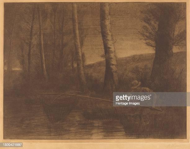 Fisherman with a Hoop-net . Artist Alphonse Legros.