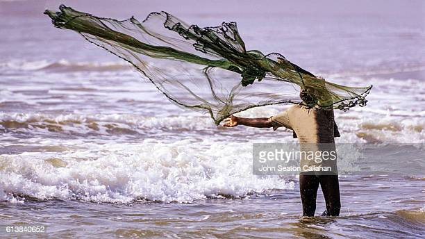 Fisherman with Throw Net
