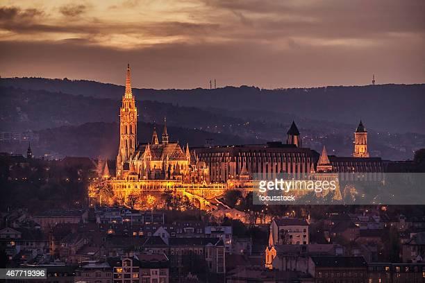 "Fisherman ""s Bastion nuit-Budapest-Hongrie"
