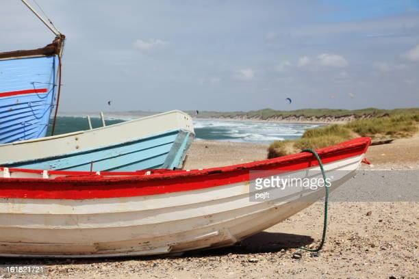 Fishermans boats on beach
