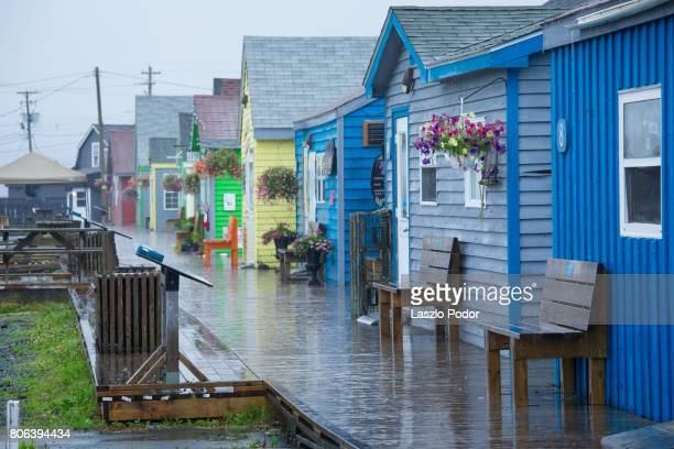 fisherman's cove beach shops - halifax nova scotia stock pictures, royalty-free photos & images