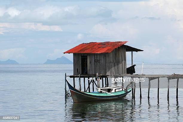 fishermans casa - ilha de mabul imagens e fotografias de stock